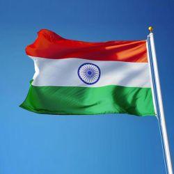 Impression numérique intérieur extérieur pendaison Polyester 90X150cm 3x5FT la bannière du drapeau national de l'Inde