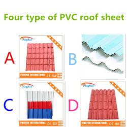 Нагрейте изолированный пластиковый ПВХ UPVC миниатюры на крыше