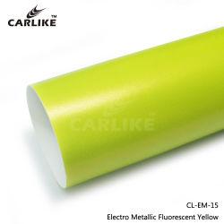 Carlikeの蛍光黄色いサテンの金属クロムビニールの車体のマットのフィルム