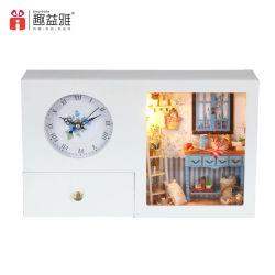 2017 Horloge cadeau Décoration maison de poupée en bois