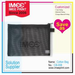 Imeeのカスタム印刷のジッパーのマッシュのネットの洗面用品袋