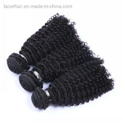 Африканских черных женщин наиболее популярных человеческого волоса Weft вьющихся волос