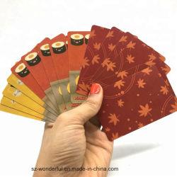 Kundenspezifischer Ausbildungs-grelle Karten-Drucken-/Karten-Drucken-trockener Großhandelsradiergummi, der Spiel-Karten-Speicher-Papierkarte für Kinder erlernt