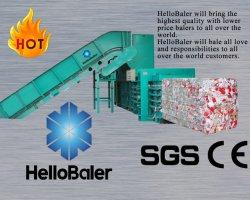 Hellobaler Automático do Sistema Hidráulico prensa de enfardamento de aparas de papel com o transportador