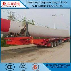 Compteur 13-203lames de turbine éolienne de l'essieu de transport semi-remorque à plat escamotable avec essieu Self-Steering