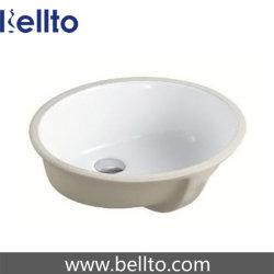 Oval unter Montierungs-Badezimmer-Wanne mit Granit-Eitelkeits-Oberseite (206)