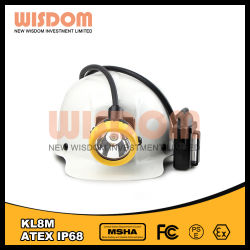知恵 LED 採掘安全ヘッドランプ、コード付きキャップランプ Kl8m
