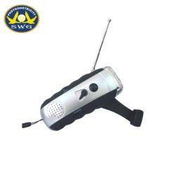 Dynamo-Taschenlampe des Kurbel-3LED mit FM Radio