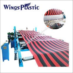 De plastic Lopende band van het Broodje van het Matwerk van pvc Antislip/De Plastic Machine van de Extruder van de Mat