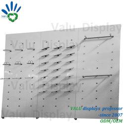 Guarde o suporte do visor do painel de parede de metal para sapatos de desporto na loja de varejo