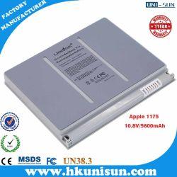 Bateria de notebook OEM para Apple 1175 UMA1175 MA348 Series, 15 polegadas MacBook um1175, 10,8V 5800mAh 6 células Bateria do Notebook