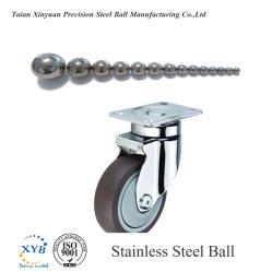 O SUS440c a esfera de aço inoxidável para o mobiliário da Roda do Caster Rodízios 25,4mm