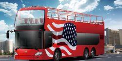 Ankai 77+1 Asientos Sight-Seeing Double-Decker Bus Turístico de la Ciudad Abierta (HFF6121GS-3)