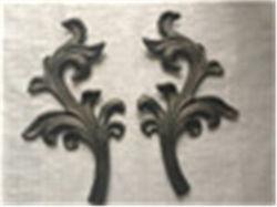 Декоративных из литой стали из кованого железа листья/ букет для Ограждения лестниц заслонки, листьев из литой стали из кованого железа и стали оставляет