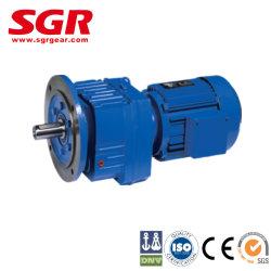 موتور ترس السرعة من الفئة R بالمواتير الحلزونية/وحدات التروس الحلزونية بالعمود المثبتة بالقدم