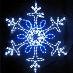 Motivo do floco de neve do LED de luz para o Natal Decoração