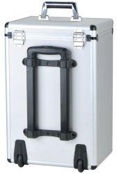 Caisse en aluminium portative de chariot à outil de bagage d'OEM avec les roues et le Rod