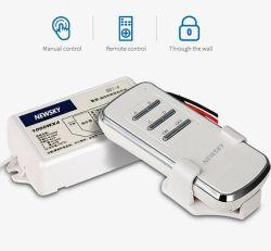 Casa de 4 canales de ventilación y luz Universal Interruptor de control remoto digital inalámbrica