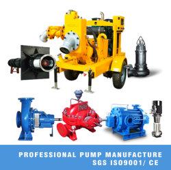 El control de inundaciones emergencia móviles del motor Diesel de autocebado bien el punto de la bomba de agua deshidratación