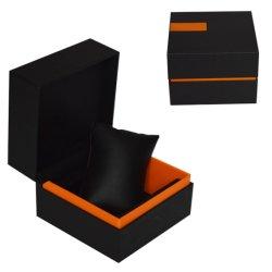 Oreiller personnalisée en usine Insérez du papier en cuir noir Watch Encadré pour regarder Bangle Bracelet emballage décoratif Smartwatch Bijoux