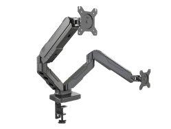 V-supports en aluminium double moniteur ressort à gaz supports du bras de moniteur Vm-Gc24
