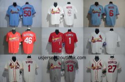 도매 커스텀 카디널스 O. 스미스 골로슈미트 M-L-B Replica Cool Flex Base Baseball Jerseys
