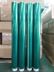 ポリエステルシリコーンのPCBのボードテープ1020mm幅、66mの長さ0.06mmのための付着力のジャンボロールテープ厚く
