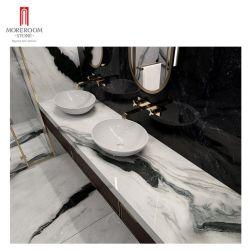 باندا وايت على طراز جوردن المصمم خصيصا من الرخام الحجرى المصطنع حجري للزينة على سطح الحمام