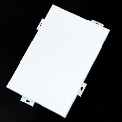 건물 외부 또는 외부 알루미늄 정면 금속 벽 클래딩 벽지 장식적인 벽 물자 알루미늄 외벽 위원회 카세트 관통되는 위원회