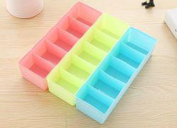 5 Zellen-Teiler-Kasten-Kasten für Gleichheit-Büstenhalter-Socken-Unterwäsche-kosmetischen Schmucksache-Medizin-Organisator-Kasten