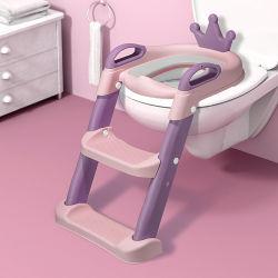 Hot Sale Travel Portable Folding Kids Potty ladder Compact Plastic Babytraining toiletzitje