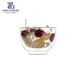 660ml 라운드 쉐이프 아이스크림 보로실리케이트 유리 젤리 컵 더블 월 볼 주스 컵 와인 GB500780660