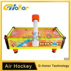 Hockey der InnenmünzenSäulengang-Kinder/Luft-Hockey/Münzenspiel-Maschine/Münzenluft-Hockey-/Kind-gelbes Luft-Hockey/Säulengang-Spiel-Maschine für Kinder