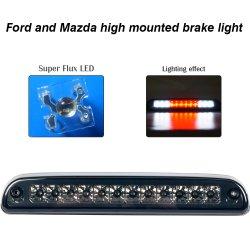 Montado en la parte alta de la tercera luz de freno cargo Luz de reemplazo impermeable Para Ford Mazda