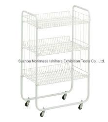 Cable de metal cesta de frutas verduras cocina de la unidad de rack de soporte de almacenamiento de nivel