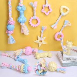Grincement des dents de gros de jouets pour animaux de compagnie TPR chiffon en coton protection environnementale Dog Toy