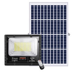 300W 200W de haute qualité réflecteur solaire mural extérieur imperméable Solar LED feux de jardin d'inondation