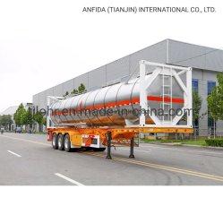 공장 가격 20ft 40ft ISO 액체 컨테이너 대량 선박 트럭 트레일러 트랙터 중부하 작업용 드럼 유틸리티 트레일러 오일 세미 트레일러 탱커