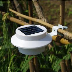 2020 à prova de novo jardim exterior de vime de plástico na parede do tanque de água Gutter montado 3 LED Gerador Solar Light