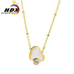 Мода производителей ювелирных изделий из нержавеющей стали дамы сердца цепь бриллиантовое ожерелье