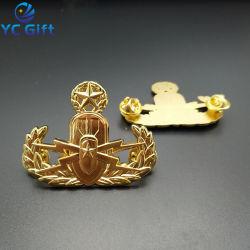 Custom металлических художественных ремесел 3D логотип покрытие Gold , Петличный Контакты Малайзия воздушных сил в военной форме в виде бабочки эмблема муфты подает нам знак полиции в Китае
