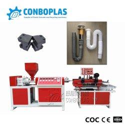 プラスチックPP PVC単一の壁の機械を作る波形の洗面器の管の管のホースの押出機