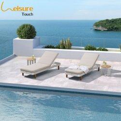 Luxe buitenmeubilair aan het zwembad Aluminium Bekleding Zonnebank voor het hotel - Rolland