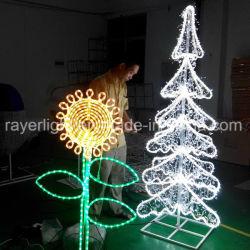LED 백색 Crystle 점화 정원 훈장 인공적인 크리스마스 나무
