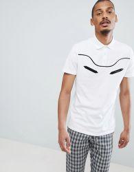 Kurzschluss-Hülsen der Männer befestigten weiße Baumwollpolo-Hemd