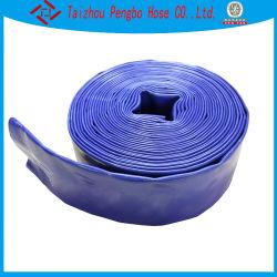 Azul de 4 pulgadas de PVC de alta presión de descarga de Agricultura Riego disposición plana la manguera de agua