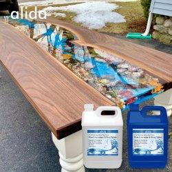 Не токсичны для эпоксидного полимера речной таблица эпоксидной консольного стола
