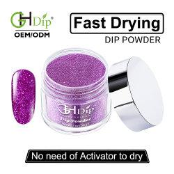 Glitter ongle à séchage rapide de la poudre de trempage couleurs DIP en acrylique Nail Art