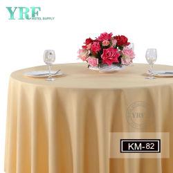 120 インチのコーヒー色サテンの直観の宴会か結婚式の装飾的な円形のテーブルの布