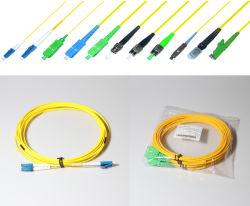 На заводе Premium Sc LC FC St E2000 MTRJ оптоволоконный кабель шнура исправлений отвод